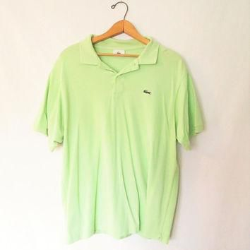 Vintage Lacoste Lime Green Polo Shirt