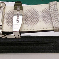 Exotic Genuine Snake skin man's belt