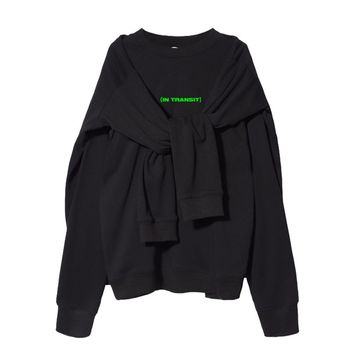 In Transit Double Pullover Sweatshirt | Black