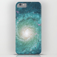 Galaxy Phone Case -  Swirl Teal iphone 7, 7 plus, 6, 5, 6 plus stars, milky way, nebula, sky, dreamy, universe  cases, protective,  floral