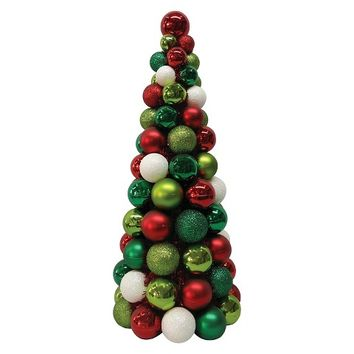 Christmas Tree Red/Green/Gold 18""