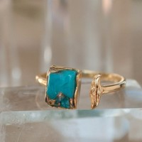 Marina Ring - Copper Turquoise (BJR047)