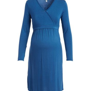 Talia Surplice Neck Nursing Dress