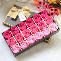 18Pcs Rose Petal Soap Decoration Perfect Gift for Holidays/ Valentines Day