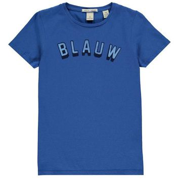 LMFMS9 Scotch & Soda Boys 'Blauw' T-shirt