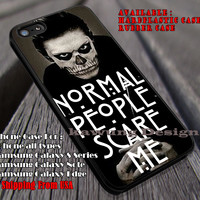 Normal People | Evan Peters | American Horror Story iPhone 6s 6 6s+ 6plus Cases Samsung Galaxy s5 s6 Edge+ NOTE 5 4 3 #movie #AmericanHororStory ii