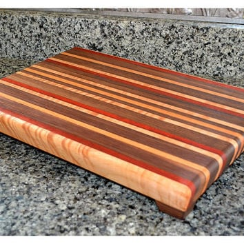 Handmade Large Wood Cutting Board - The Sweat Treat - Walnut & Padauk