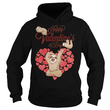 2018 Happy valentines day sloth shirt Hoodie