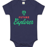 Cute Future Explorer Baby Clothes Infant Bodysuit Jumper Baby Shower Gift idea Funny New Mom Christmas Pregnant Gift wanderer free spirit