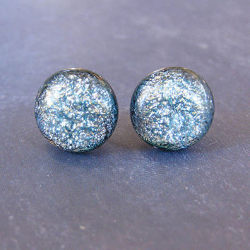 Silver Earrings, Button Earrings, Post  Earings, Silver Jewelry, Ear Jewelry on Etsy - Layla - 1708 -3