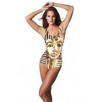 Egyptian Sphinx Themed One Piece Swimsuit