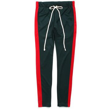 Track Pants Green / Red
