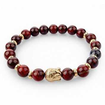 Natural Stone Buddha Charm Bracelets With Stones Beads Bracelets For Women Men S