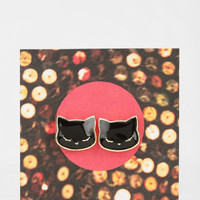 Happy Cat Gift Card Earring - Urban Outfitters