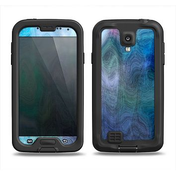 The Vivid Blue Sagging Painted Surface Samsung Galaxy S4 LifeProof Nuud Case Skin Set