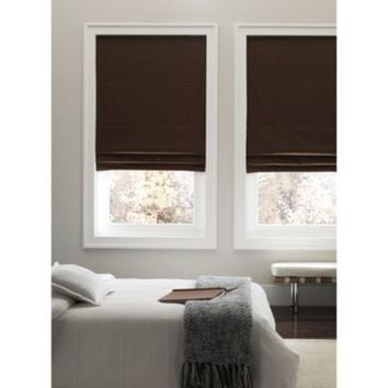 Real Simple®Cordless Fabric Roman Shade
