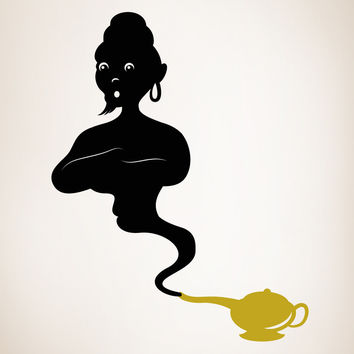 Vinyl Wall Decal Sticker Genie Lamp #OS_MB397