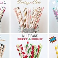 BEST-SELLING Designer Straw Multipacks & More! Over 160 Designs - High Quality!