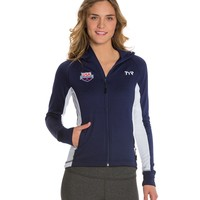 TYR USA Swimming Women's Alliance Victory Warm Up Jacket at SwimOutlet.com - Free Shipping