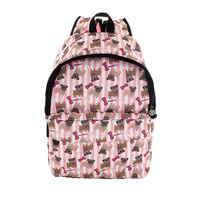 David and Goliath Pug Print Backpack