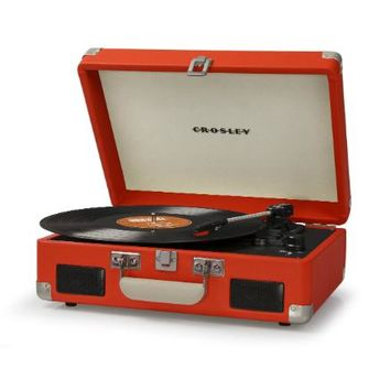 Crosley Cruiser Retro Turntable II CR8005C - Portable Battery Powered! - Orange