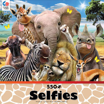 Ceaco Selfies On the Savanna 550 Piece Jigsaw Puzzle