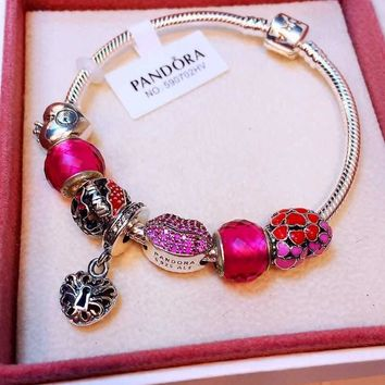 Authentic Pandora Women Fashion Crystal Plated Bracelet Jewelry 925 Sterling Silver Inspirationa
