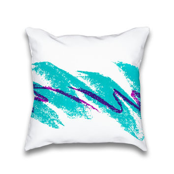Jazz Cup Vintage 90's Throw Pillow