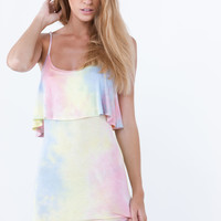 Tie-Dye Draped Maxi Dress