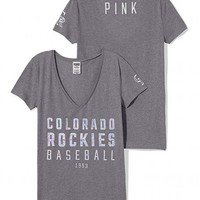 Colorado Rockies Fitted V-Neck Tee