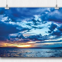 Sunset on Lake Tanganyika Clouds Poster