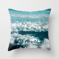 TRAVEL Throw Pillow by catspaws | Society6
