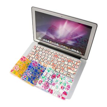 Free Shipping Ultra Thin Functional Silicone Keyboard Cover Protector Stickers For laptop Macbook Pro Air 13 15 17 Universal