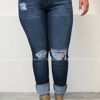Los Angeles Shredded Skinny Denim | Plus