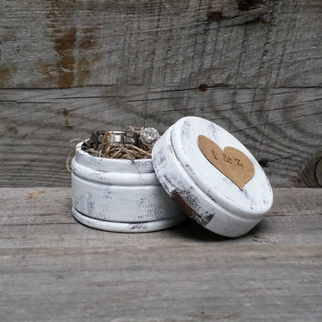 Personalized Rustic Ring Bearer Box