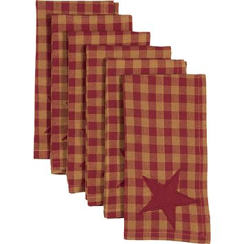 Burgundy Star Napkins