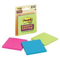 Post-it Super Sticky Notes Multicolored 3-pk. 3in x 3in