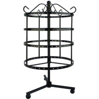 4 Tiers Black Rotating Spin Table Top 92 pairs Earring Holder Organizer Stand / Jewelry Stand Display Rack Towers by LilGift (BLACK)