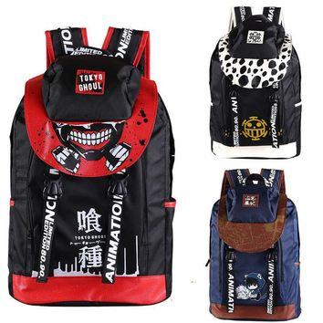 Cool Attack on Titan Anime Tokyo Ghoul One Piece Time Raiders  Canvas Travell Backpack Female School Student Shoulder Cartoon Bag Pack AT_90_11