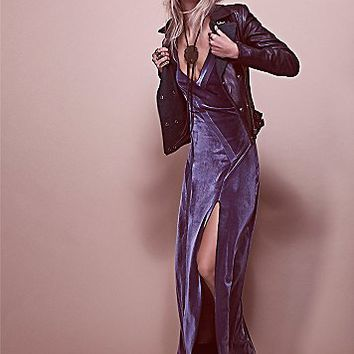 Intimately Womens Spliced Velvet Maxi