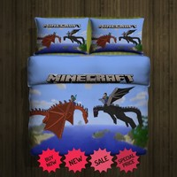 Set Gift Minecraft dragon fleece blanket large and 2 pillow cases 83189734,83189733(2)