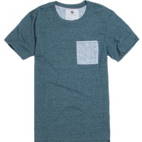 On The Byas Alan Mock Twist Crew T-Shirt - Mens Tee - Blue