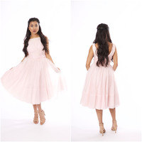 Vintage 1960s Light Pink Swing Dress