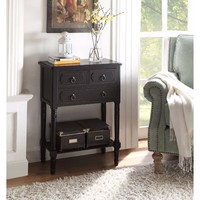 Simplicity 3 drawer chest (Black)