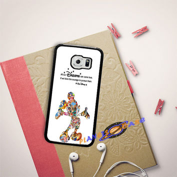 Walt Disney Quote Mickey Mouse Character Samsung Galaxy S6 Edge Plus Case Planetscase.com