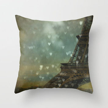 I Left My Heart in Paris Throw Pillow by Ann B. | Society6