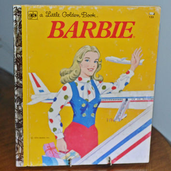 Four 'A Little Golden Book' Books, Vintage Children's Books, Chitty Chitty Bang Bang, Little Lulu, Bullwinkle, Barbie, 1960's 1970's