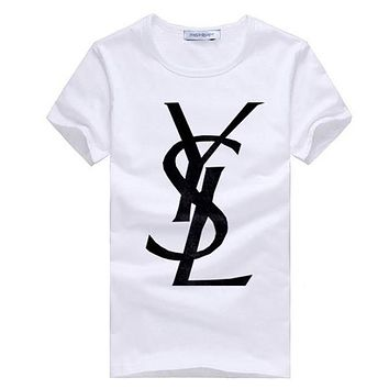 Boys & Men YSL Yves Saint Laurent Fashion Casual Shirt Top Tee