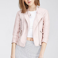 Snap Collar Moto Jacket