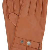 Men's Original Penguin Leather Driving Gloves with Knit Lining,